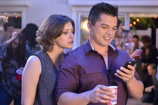 "Rebecca Bunch (Rachel Bloom) and Josh Chan (Vincent Rodriguez III) of ""Crazy Ex-Girlfriend."""