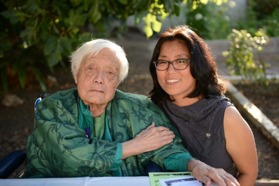 Grace Lee Boggs with filmmaker Grace Lee.