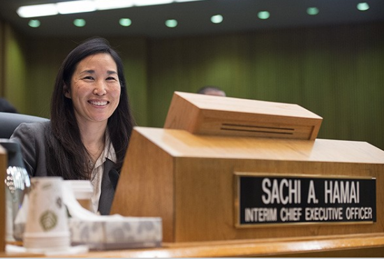 Sachi Hamai has been serving as interim CEO of Los Angeles County.