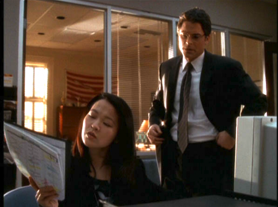 "Suzy Nakamura and Rob Lowe in a scene from ""The West Wing."" (NBC)"