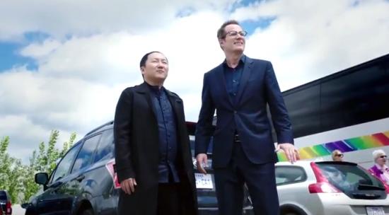 """Hiro Nakamura (Masi Oka) reunites with Noah Bennet (Jack Coleman) on """"Heroes Reborn."""""""