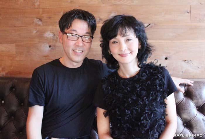 日系4世のクレッグ・シマハラ監督(左)と同作で米映画初出演を果たした南果歩