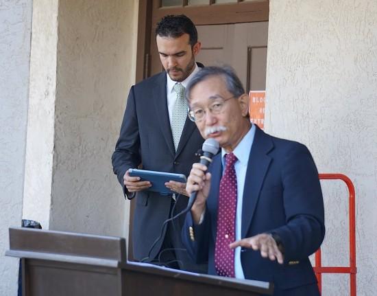Andy Noguchi, co-president of Florin JACL, with Basim El-Karra, executive director of CAIR-SV.