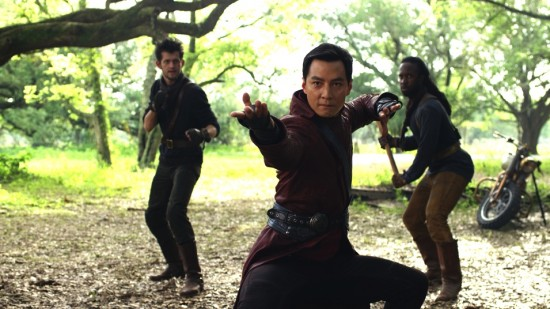 "Danie Wu (center) as Sunny in ""Into the Badlands."" (AMC)"