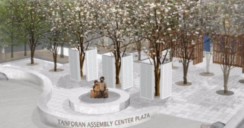 A rendering of the Tanforan Assembly Center Memorial.