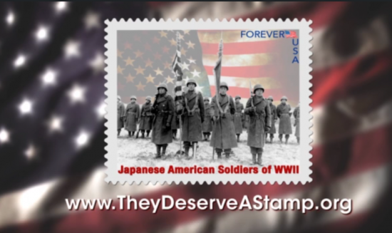 "Image from the ""They Deserve a Stamp"" video."