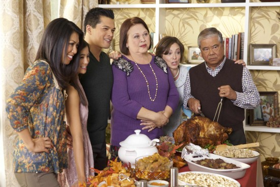 """The Chan family on """"Crazy Ex-Girlfriend."""""""