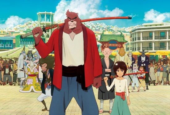 "Poster art for Mamoru Hosoda's ""The Boy and the Beast."""