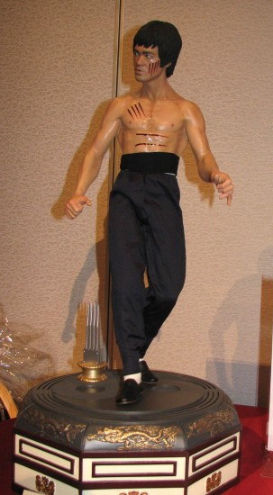 "Silent auction items included this sculpture by Arnie Kim and Blitzway of Bruce Lee in a scene from ""Enter the Dragon."""