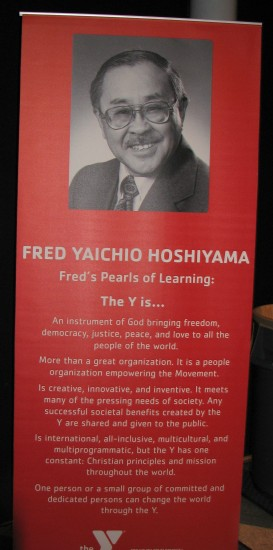 "Fred Hoshiyama's ""Pearls of Learning"" were displayed at his 100th birthday celebration in Los Angeles. (J.K. YAMAMOTO/Rafu Shimpo)"