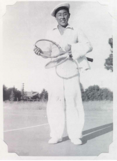 Fred Hoshiyama became a tennis enthusiast before World War II. (Courtesy of Emiko and Chizu Omori, via Discover Nikkei)