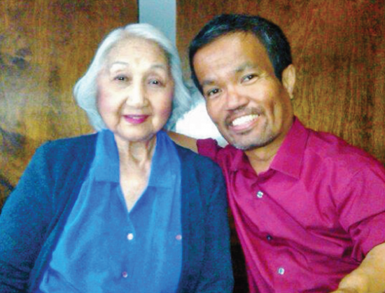"John ""JT"" Tamaki with his mom, Anna Mae. (Photo courtesy of Tamaki family)"