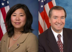 Reps. Grace Meng and Ed Royce