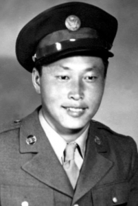 Pvt. George Sakato of the 442nd Regimental Combat Team