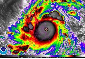 Super Typhoon Haiyan/Yolanda struck the Philippines in November 2013.