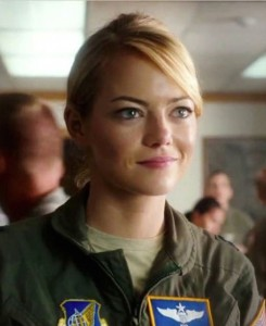 "Emma Stone in a scene from ""Aloha."""