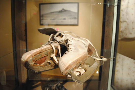 Ice skates are among the items that illustrate everyday life at Heart Mountain. (Heart Mountain Interpretive Center)