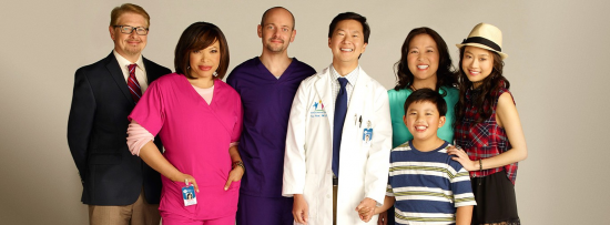"The cast of ""Dr. Ken,"" which stars Ken Jeong."