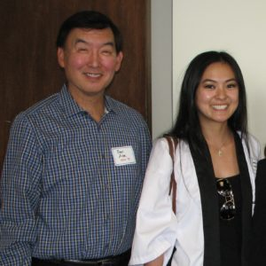 Paul Abe (1974-75), an event committee member, and Camryn Sugita (2011-12), a member of the Nisei Week Court and the youngest attendee.