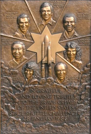 Challenger memorial at Arlington National Cemetery.