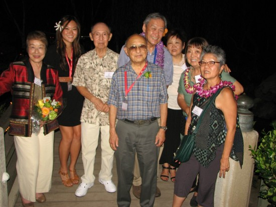 Speakers and honorees (from left): Yoko Pusavat, Megan Ono, Jim Matsuoka, Lloyd Inui, Alan Nishio, Chris Aihara, Carrie Morita, Evelyn Yoshimura.