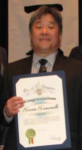 Distinguished Service honoree Richard Kunisaki.