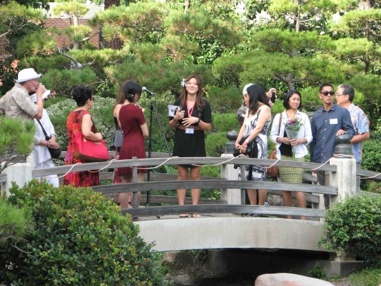 Megan Ono gives a tour of the Earl Burns Miller Japanese Garden.
