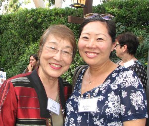 Honoree Yoko Pusavat with Barbara Kim of the Department of Asian and Asian American Studies.
