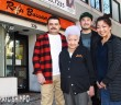Rafu Bussan owner Aiko Kawaratani (center) is joined by her staff (from right) Carol Tanita, Kevin Yamadera and Rigoberto Martinez. The gift shop is moving from its location on Second Street to Honda Plaza. (MARIO G. REYES/Rafu Shimpo)