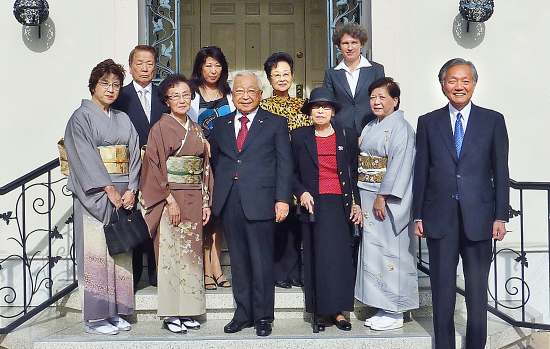 Tanaka is joined by friends and family at the luncheon held at the consul general's residence.