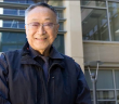 Dr. Paul Terasaki in front of the Terasaki Life Sciences Building on the  UCLA campus in 2010.