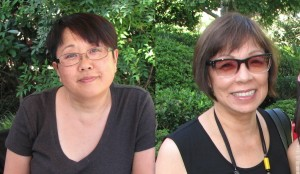 Reunion committee members Kathy Tokudomi and Sue Oda Omori.