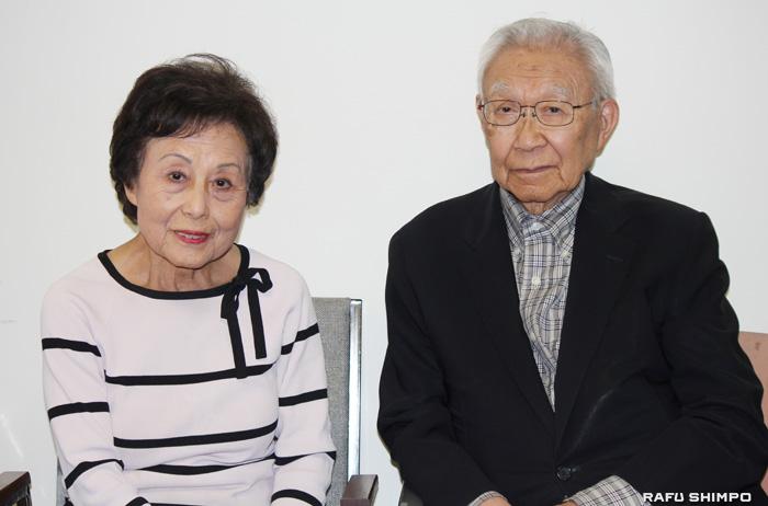 ポーターランチ在住30年以上の山口弘・淑子さん夫妻。ガス漏出事故を受け、現在は小東京の転居先で避難生活を送っている