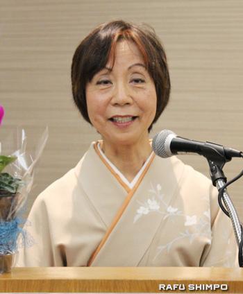 米国で生きていく中で経験した苦労と前向きにたくましく人生を歩んでいくことの大切さを語った石井文子さん
