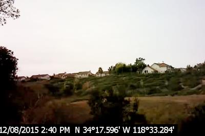通常のカメラで撮影した施設周辺の様子=昨年12月8日撮影(PorterRanchLawsuits提供)