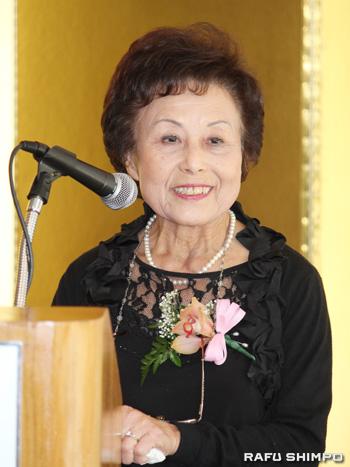 会長に就任した山口淑子さん
