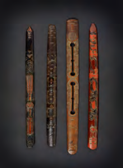 "Group of wooden ritual prayer sticks (ikupasuy). Late Edo/Meiji Period. 12 1/2"" x 1 1/8 """