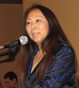 JCCSC Senior Vice President Grace Shiba introduced the Nikkei Spirit Award recipients.