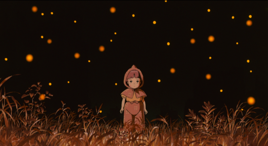 "A scene from Isao Takahata's ""Grave of the Fireflies"" (1988)."