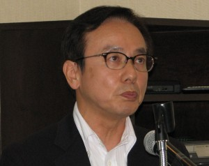 JBA President Hideo Miyake. (J.K. YAMAMOTO/Rafu Shimpo)