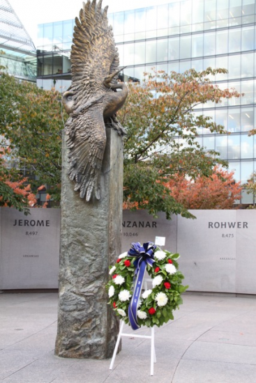 The National Japanese American Memorial to Patriotism is being looked at as a possible alternative to honor the Nisei soldiers on a national stamp. (Photo courtesy of Lynn Franklin)