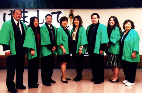 SFVJACC Board of Directors (from left): Paul Jonokuchi, Lisa Sugino, Bing Lau, Nancy Oda, Akiko Manaka, Danny Okazaki, Denise Tanaka and Liz Doomey.