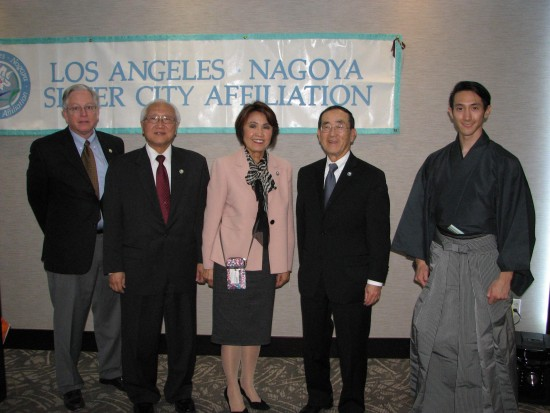 From left: Peter Langenberg, Ernest Hida, Teruko Weinberg, Norman Arikawa and Kirk Nishikawa.