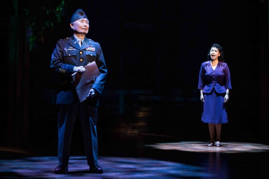 "George Takei and Lea Salonga star in ""Allegiance."""