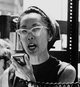 Yuri Kochiyama at anti-war demonstration in New York circa 1968.