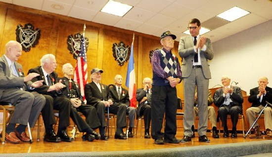 """A.G. """"Agie"""" Harada is recognized as he receives the National Order of the Legion of Honor in the rank of Chevalier (Knight) from French Consul General Christophe Lemoine on March 9."""