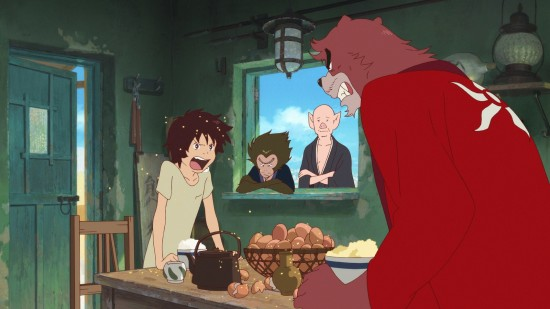 "A scene from Mamoru Hosoda's ""The Boy and the Beast."" (Courtesy of Funimation Entertainment)"