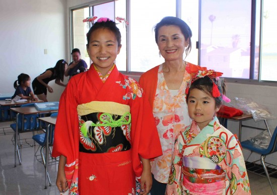 Wearing kimono is a tradition on Girls' Day, which is celebrated in Japan on March 3.