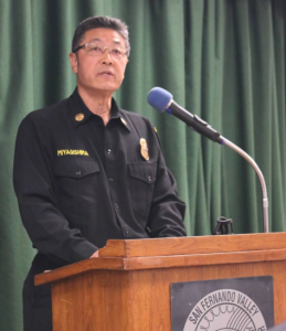 Los Angeles Fire Department Battalion Chief Glenn Miyagishima