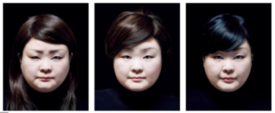 Above and below: Tomoko Sawada reimaged herself as 300 interpretations of East Asian women.